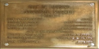 City Market Dedication Plaque